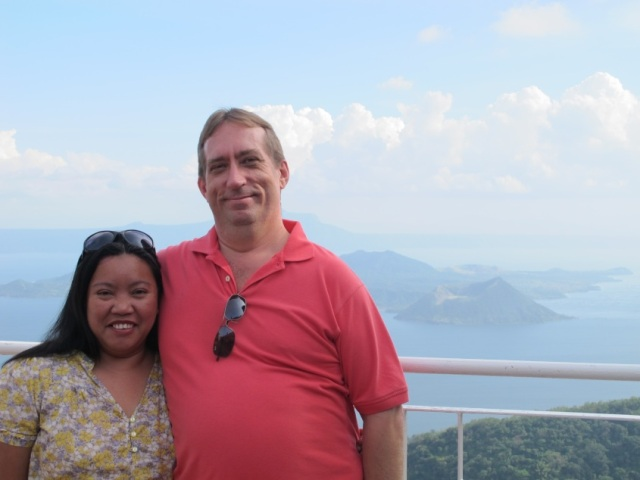 Taal Volcano on the background. Taken in Tagaytay, Philippines on January 2012.