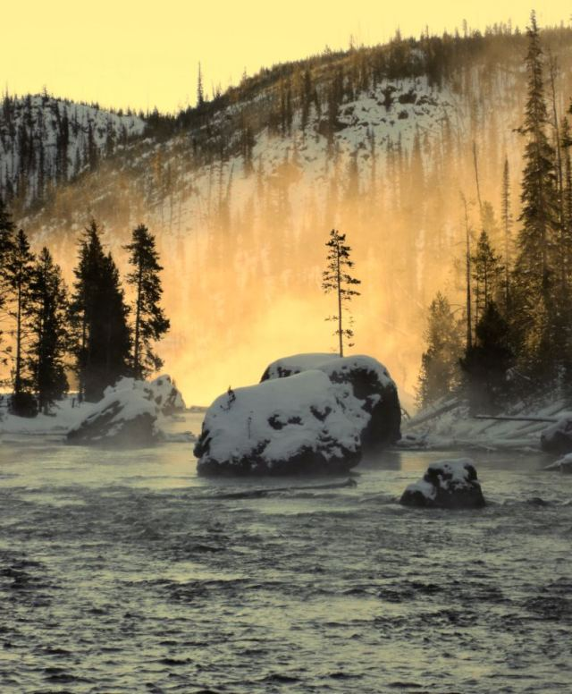Firehole River Reflections. (Couresy of Yellowstone National Park's facebook page)