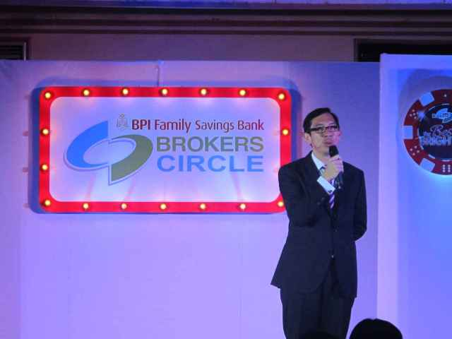The soft spoken, Sir TJ, president of BPI Family Bank.