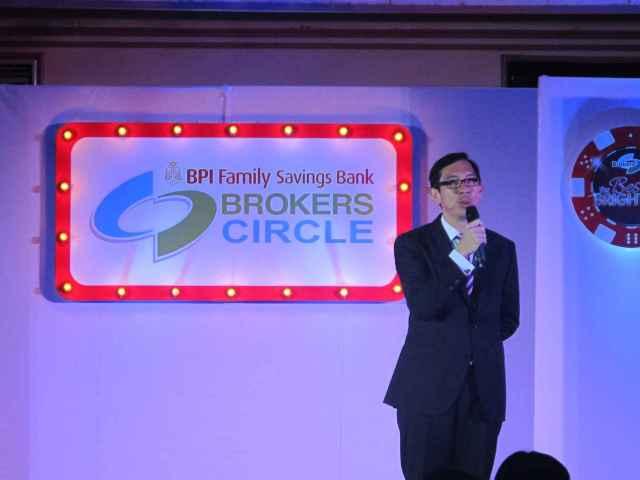 The soft spoken, Sir TJ, president of BPI Family Bank.