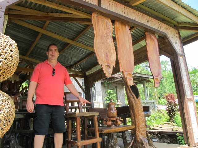 We stopped in Agusan Del Sur to check the wood works being sold along the highway. :)