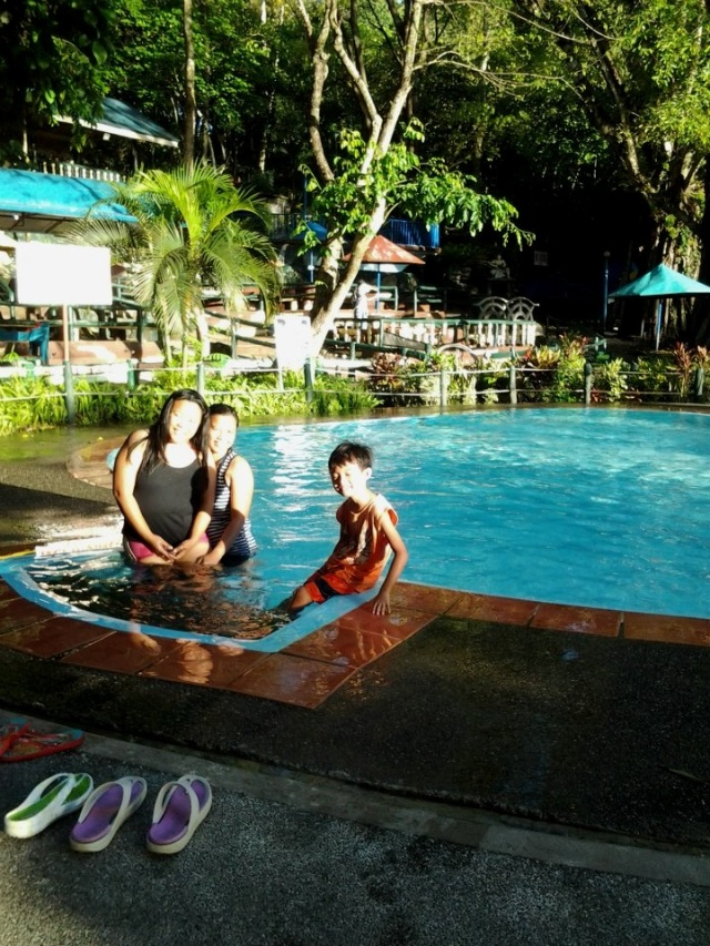 3 ft deep pool. Don't laugh! :) I don't know how to swim remember? haha
