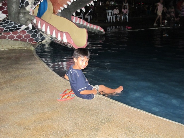 Marco at the kiddie pool.