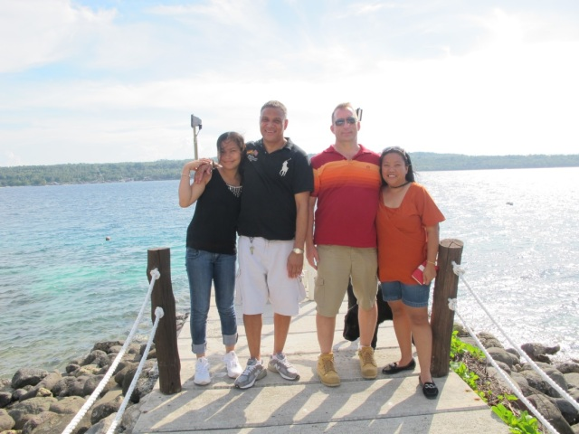 With our friends, Gary and Grace. :)
