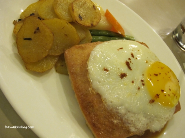 Meatloaf with Panfried Potato and Egg.
