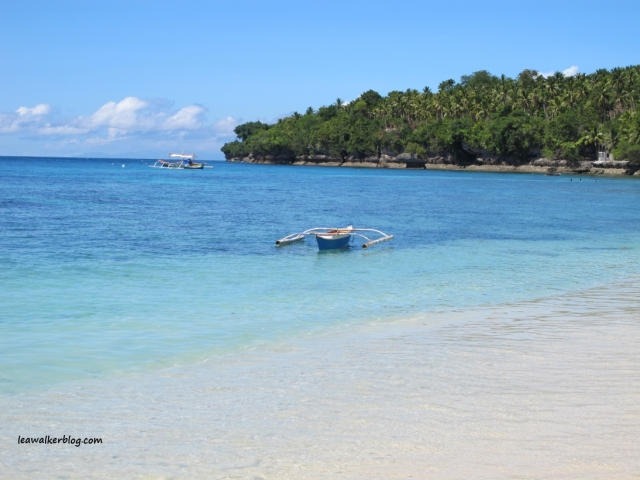 The white sand beach at Alorro's Resort in Kaputian, Samal Island.