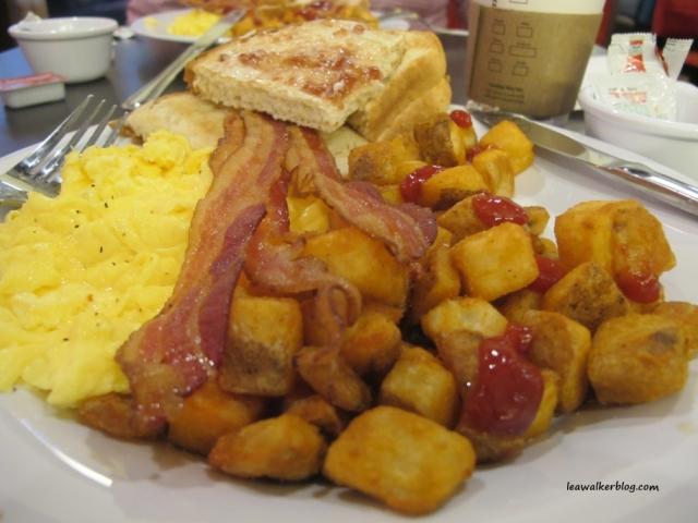 My breakfast at Marriott Hotel.