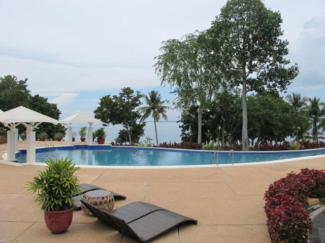 The Infinity Pool facing Davao Gulf, Mt. Apo and Davao City.