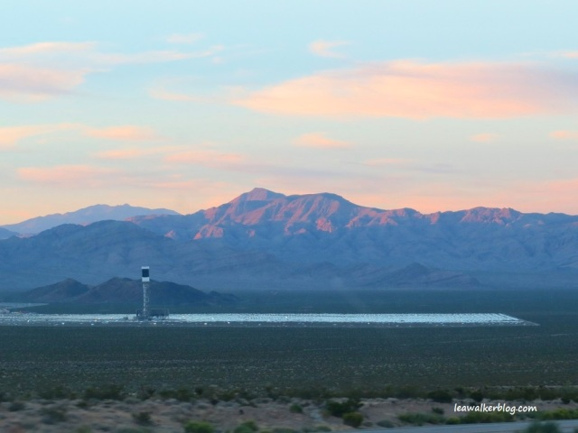 Solar Panels, right before entering Las Vegas.