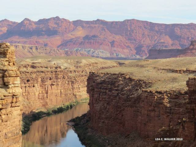 Marble Canyon and the Colorado River.