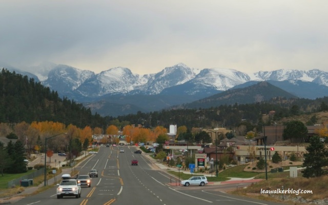 The Rocky Mountains, as seen from Estes Park.