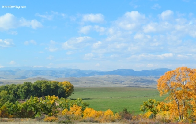 This is the view I saw at the boundary of Wyoming and Colorado.