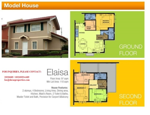 house for sale davao, davao city house for sale, elaisa model house camella, camella homes buhangin