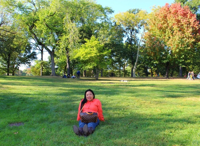 At Central Park in Manhattan, New York.