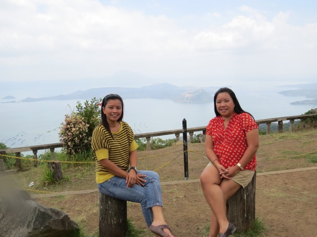 With my sister in Tagaytay.
