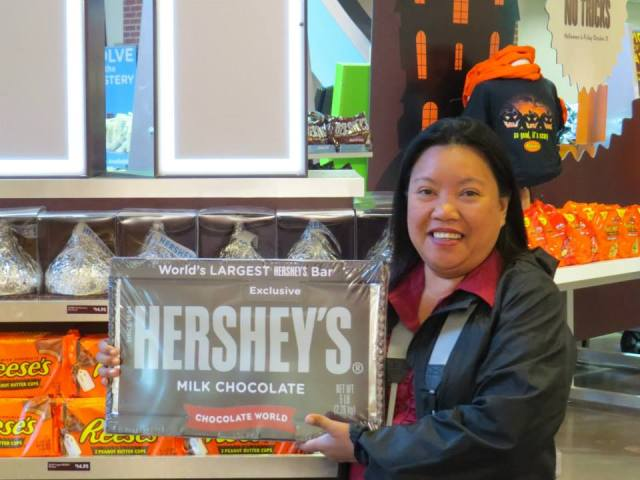 At the Hershey Factory in Hershey, Pensylvannia.