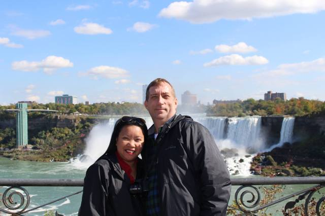 At the Niagara Falls with John. :)