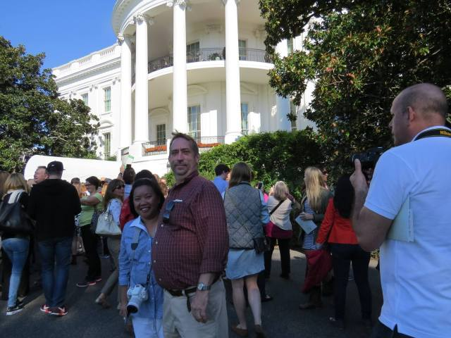 At the White House during their Fall Garden Tour.