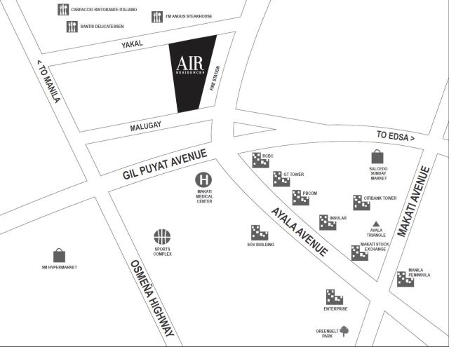 air residences vicinity map