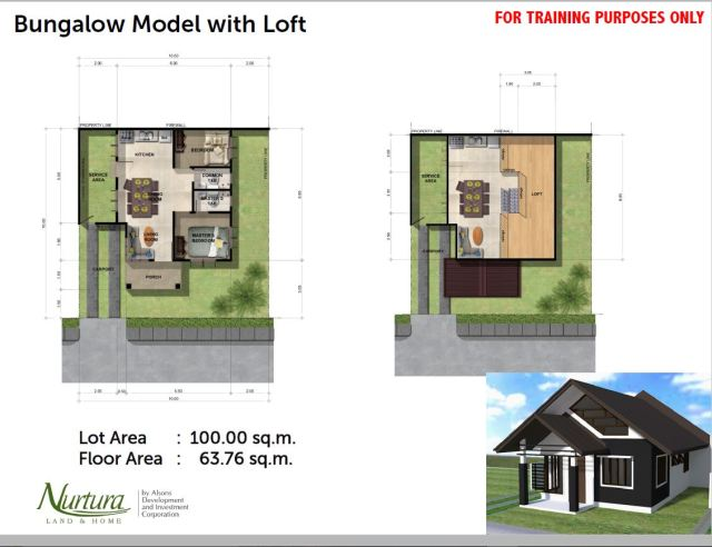 Bungalow with Loft Floor Plan