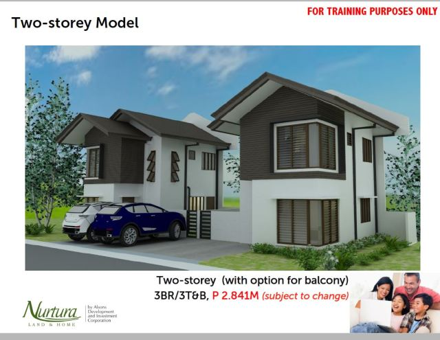 Two Storey House with option for a balcony