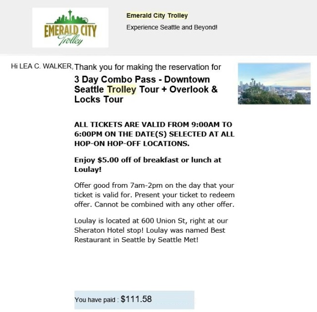 emerald trolley voucher