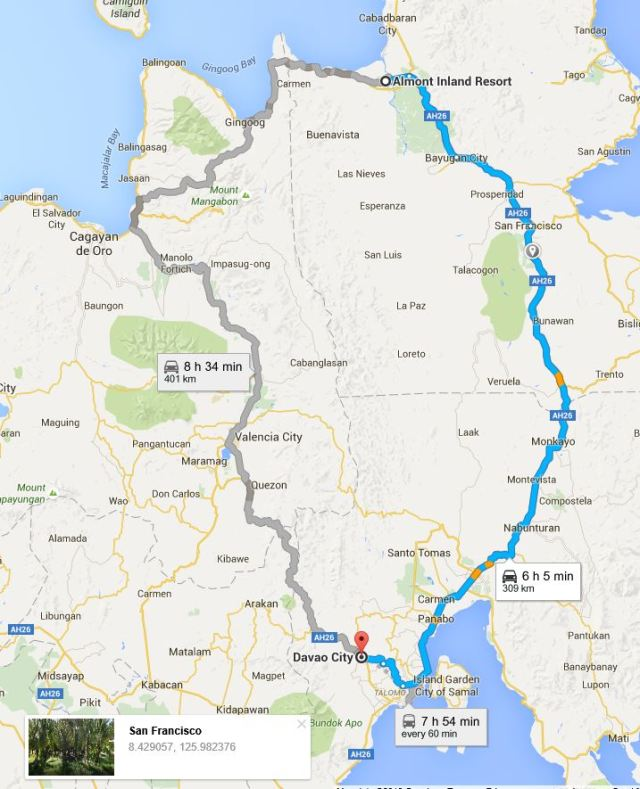 butuan to davao